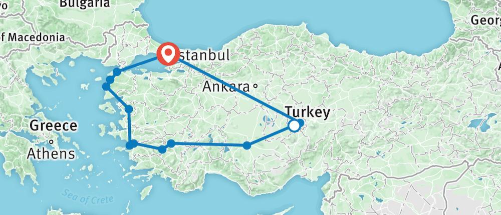 Best of Turkey map