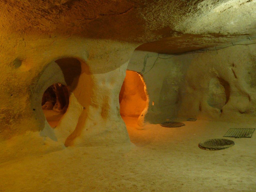 Places to visit in Cappadocia. Kaymakli underground city in Cappadocia